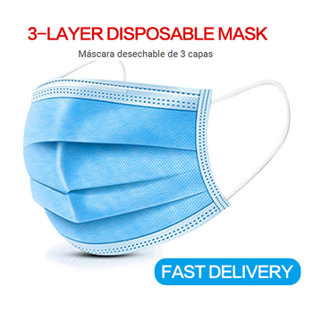 10/50/100pcs high quality Disposable mask mouth  Anti-Pollution 3 Laye Mask Ear Loop Face Masks Non Woven Meltblown Cloth Safety