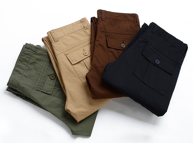 KSTUN Cargo Pants Men Combat Army Military Pants 100% Cotton 4 Colors Multi-Pockets Flexible Man Casual Trousers Overalls Plus Size 38 11