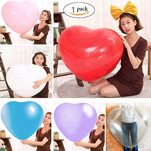 36 Inch <font><b>Big</b></font> Heart <font><b>Latex</b></font> <font><b>Balloon</b></font> For Wedding Decoration Inflatable Balls Birthday Party Love Marriage Lover Baloon image