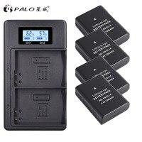 PALO 4xEN-EL14A EN-EL14 ENEL14 Bateria + LCD USB Dual Carregador para Nikon D3100 D3200 D3300 D3400 D3500 D5600 D5100 D5200 P7000