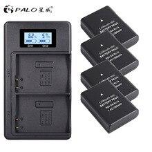 PALO 4xEN-EL14A EN-EL14 ENEL14 Battery+LCD USB Dual Charger for Nikon D3100 D3200 D3300 D3400 D3500 D5600 D5100 D5200 P7000 battery en el14 1030mah for nikon d3200 d3400 d3300 d3100 d5100 d5200 d5300 d5600 camera battery enel14 en el14a charger 8 4v