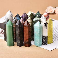 36 Color Natural Stones and Crystals Point Amethyst Quartz Reiki Healing Stone Tower Obelisk Energy Ore Mineral Home Decor Gift