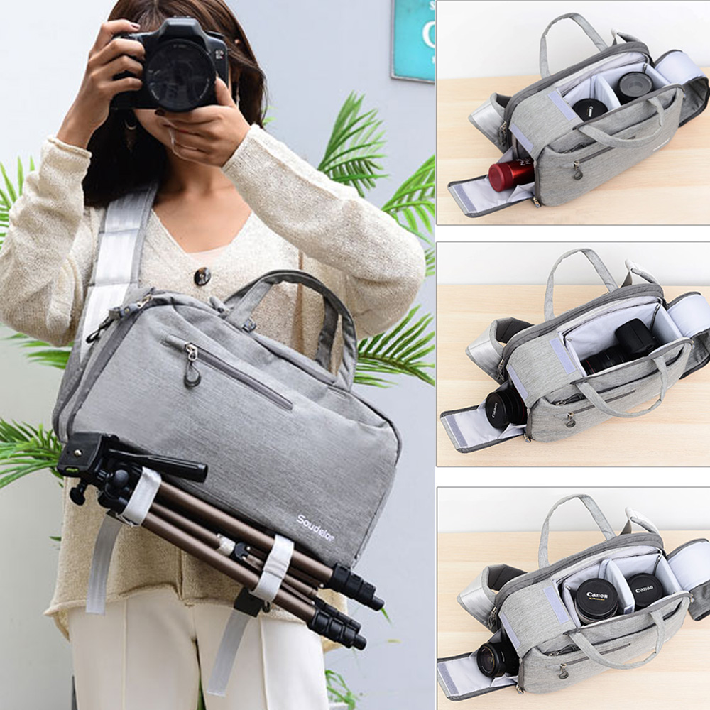 Waterproof Travel Multi-layer DSLR Shoulder Camera Bag for Canon EOS Rebel T7i T6i T6s T6 T5i T5 T4i T3i T2i T1i XTi XSi SL1 SL2 image