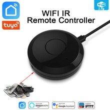 Tuya WiFi IR שלט רחוק רכזת WiFi חכם בית אינפרא אדום אוניברסלי מרחוק בקר מזגן טלוויזיה עבור Alexa Google בית