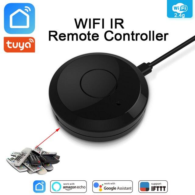 Tuya WiFi IR uzaktan kumanda Hub WiFi akıllı ev kızılötesi evrensel uzaktan kumanda klima TV Alexa Google ev için