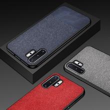 Funda de tela para teléfono para Samsung Note 10 Plus suave negro gris marrón lujosas fundas de silicona para Samsung S7 S8 S9 S10 Plus