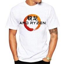 Sommer AMD Dacentrurus Ryzen Gedruckt T-shirt Kleidung Männer Crew Neck Kurzarm Casual T-shirt