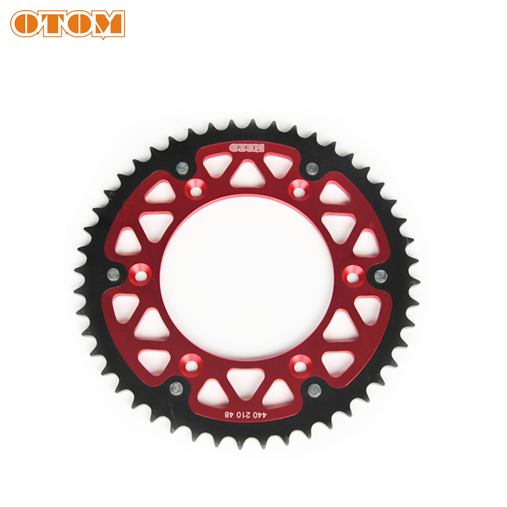 OTOM Dual <font><b>Sprocket</b></font> Motocross Dirt Bike Steel Aluminum Rear Chain Tray <font><b>48T</b></font> For HONDA CR125 CR250R CRF250R CRF450R CRF450X image