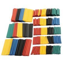 164 pçs/set kit de tubo de psiquiatra de calor encolhendo sortidas poliolefina isolamento sleeving tubo de psiquiatra de calor cabo de fio 8 tamanhos 2:1