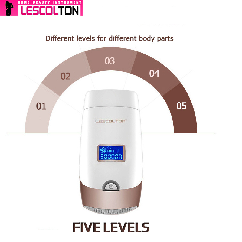 Image 3 - 100% Original Lescolton 5in1 1300000pulsed IPL Laser Hair Removal Device Permanent Hair Removal IPL laser Epilator Armpit-in Epilators from Home Appliances