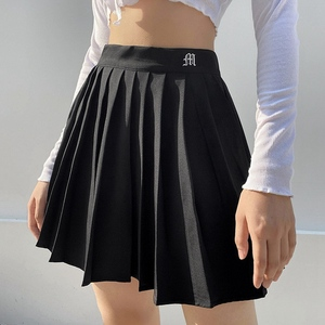 Muyogrt Women High Waist Pleated Skirt Sweet Cute Girls Dance Mini Skirt Cosplay Black White Skirt Female Mini Skirts Short