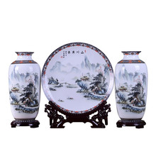 3 sztuk zestaw Jingdezhen ceramiczny wazon rocznika chiński styl zwierząt wazon grzywny gładka powierzchnia dekoracji wnętrz artykuły wyposażenia wnętrz R1827 tanie tanio Tradycyjny chiński Ceramiki i porcelany Blat wazon Vase Flower Vase Crystal Creative Chinese 9 8-10 2 Inches RETAIL BOX