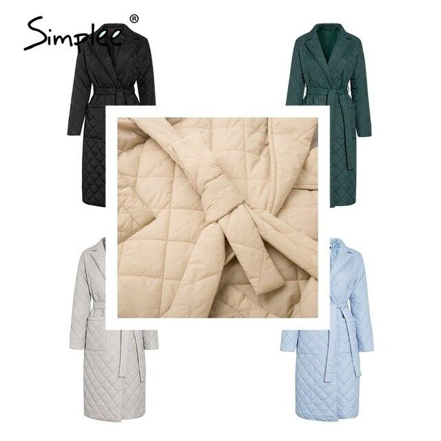 Simplee Long Straight Winter Coat 6