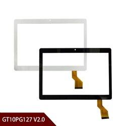 100% nowy A + biały lub czarny 10.1 ''cal Tablet szkło Digitizer GT10PG127 V2.0 Tablet dotykowy ekran panel darmowa wysyłka w Ekrany LCD i panele do tabletów od Komputer i biuro na