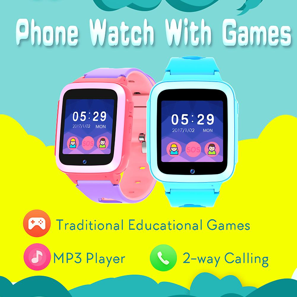 Kids Smart Watch Bracelet Fashion Music Touch Screen Fitness Positioning Tracker Waterproof IP67 Smartwatch For Android IOS