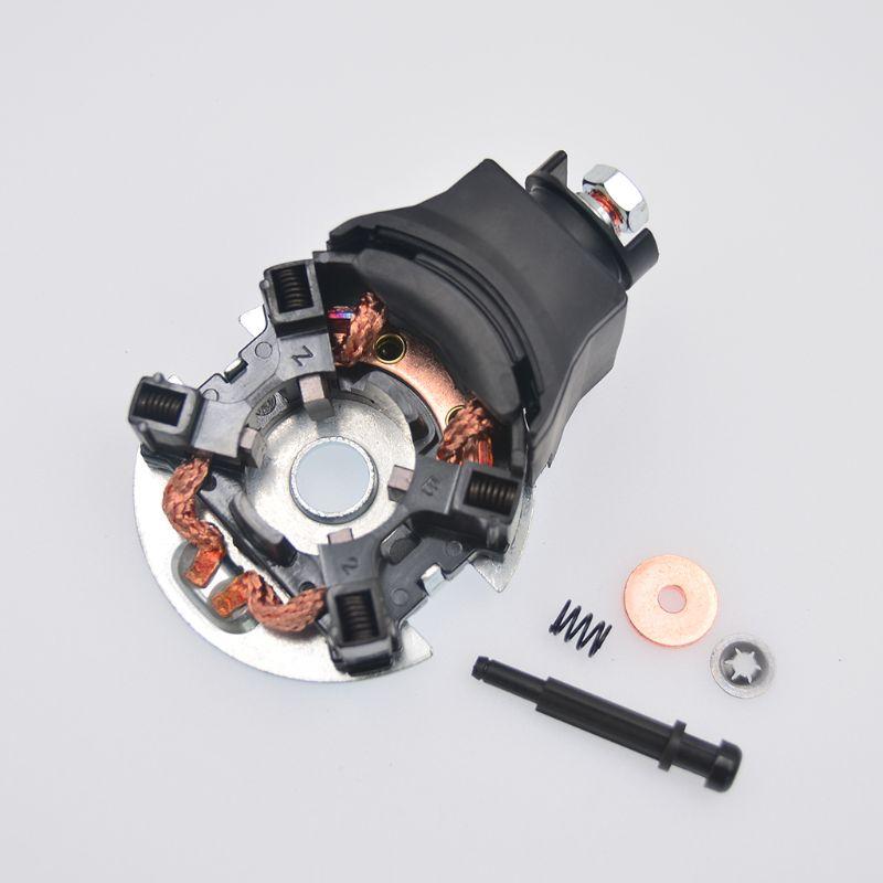 Купить с кэшбэком 04312-PSA-305 Carbon Brush Holder Starter Repair Kit 04312-PSA-305 Fit For Honda Accord Odyssey CRV Acura 2005