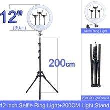 Подарок 6 10 12 дюймовый Диммируемый светодиодный селфи кольцо светильник с подставкой без штатива 160 см светодиодный потолочный светильник д...