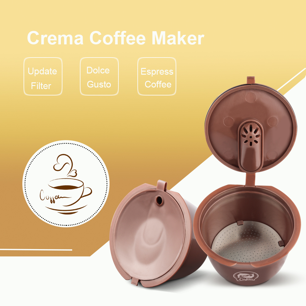 3rd Crema Version Reusable For Dolce Gusto Coffee Capsule Dolci Nescafe Machine Reusable Coffee Filter