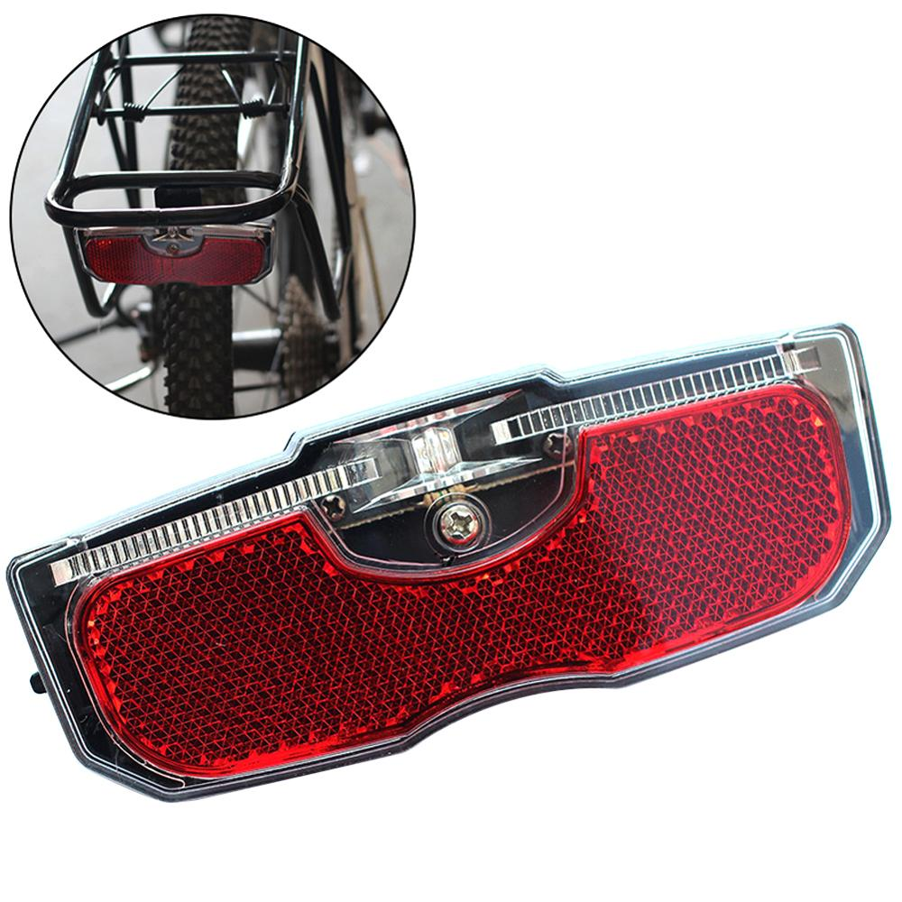 Bicycle Rear Reflector Tail Light For Luggage Rack NO Battery Aluminum Alloy Bike Cycling Reflective Taillight