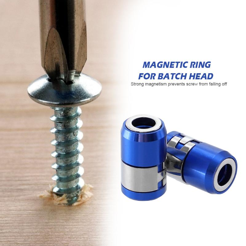 6.35mm Metal Screwdriver Head Magnetic Ring Strong Magnetic Coil Steel Sleeve Holder Drill Screw Tool Hand Tools