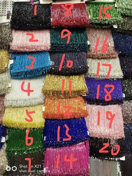 5 jardów torba koraliki tassel fringe piękny design JRB-8 1401 do dekoracji sukni tanie i dobre opinie Kurtyny Tekstylia domowe Dekoracyjne Odzieży 其它(Other) Klucz pomponem