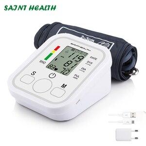 Image 1 - Moniteur numérique Lcd automatique de la pression artérielle du bras, rythme cardiaque, tonomètre, sphygmomanomètre