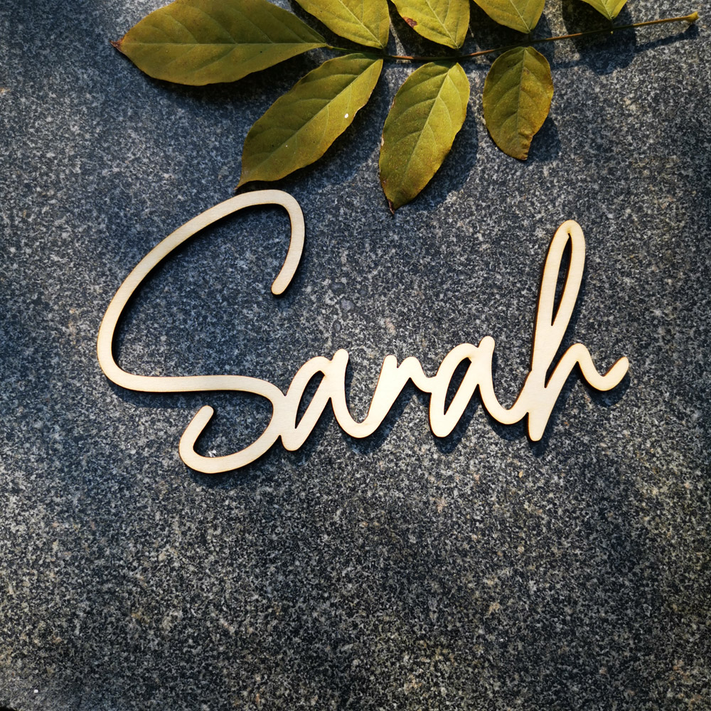 Pesonalized Wood Baby Name Sign Nursery Decoration Custom Name Sign Wedding Anniversary Baby Shower Party Gifts Home Adornment