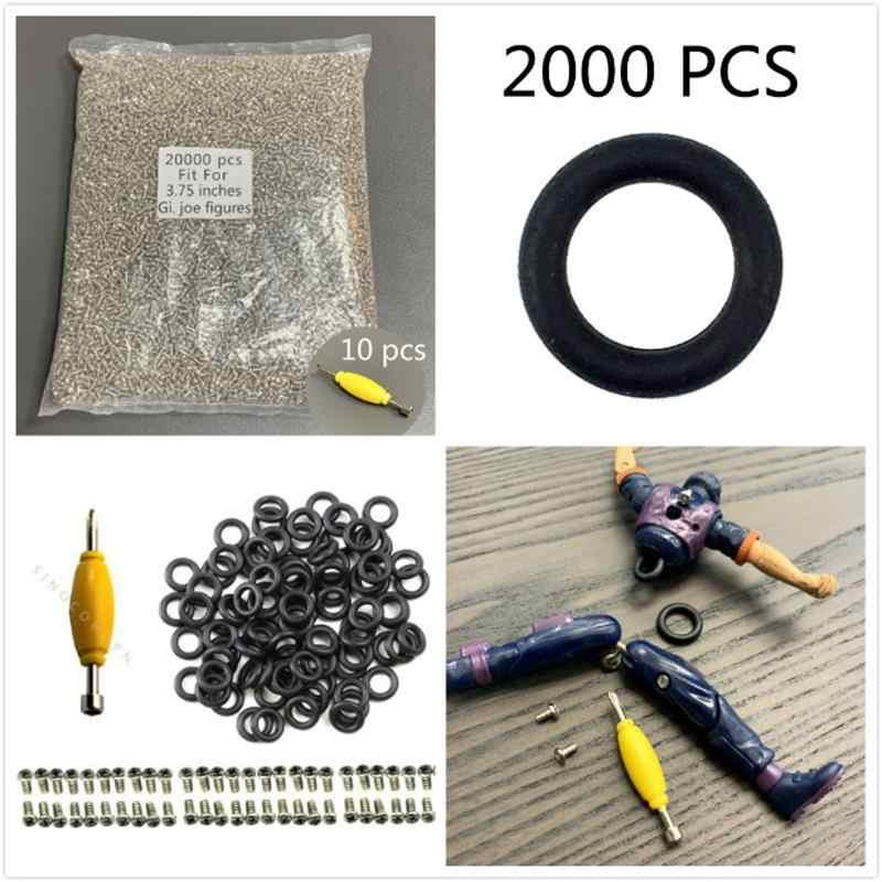 200x O-RINGS Waist Bands /& 200x Screws Fits GI Joe 3.75/'/' Cobra Action Force Toy