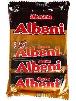 ETI Ulker Albeni Milk Chocolate Coated Bar Caramel Biscuit Turkish