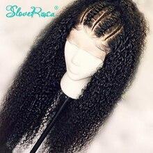 Pelucas de cabello humano rizado descarado, densidad del 130%, pelo Remy de Malasia, pelucas con encaje frontal de 13x4, nudos blanqueados minimechones, Rosa Slove