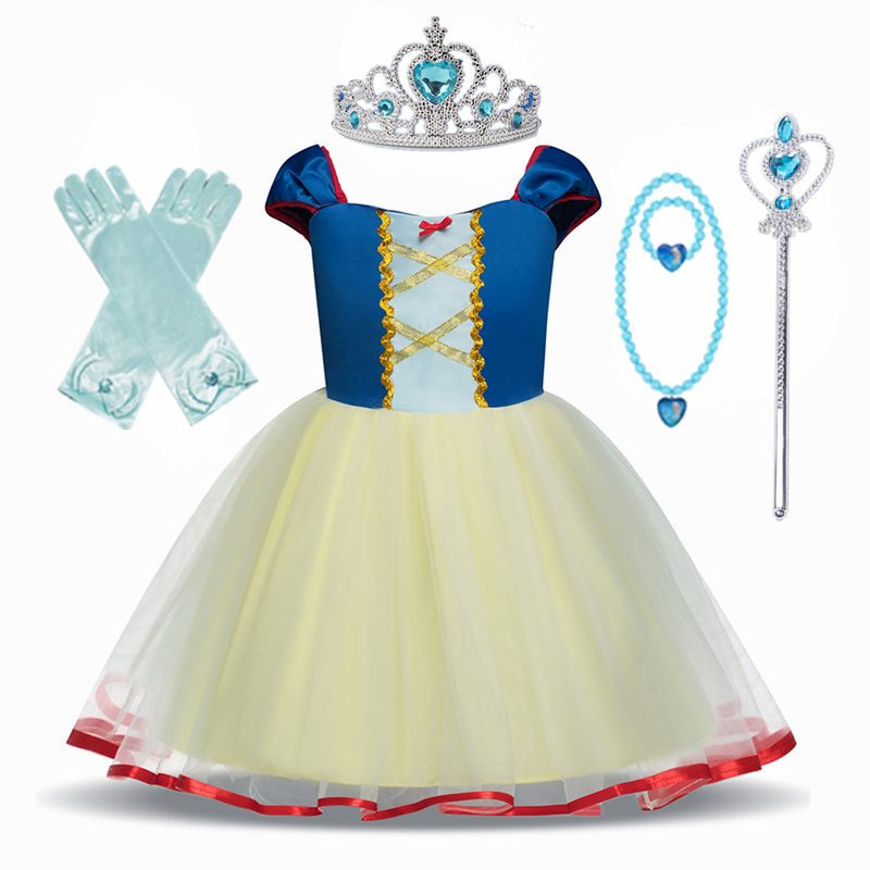 Princess Costume Snow Party Cosplay Dress For Girls Kids Dress up Clothing Fancy Halloween Dress Birthday Dress 3