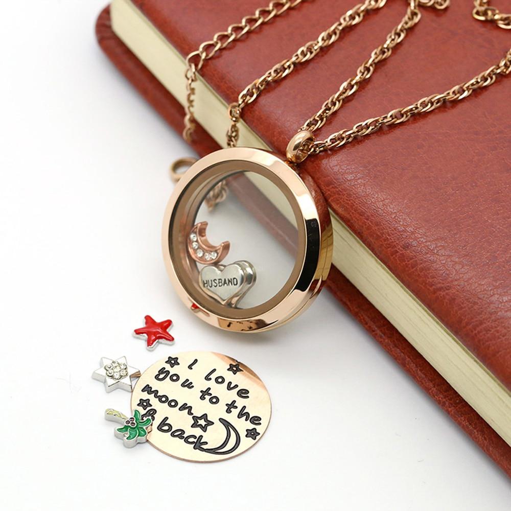 BOFEE round locket necklace jewelry gift