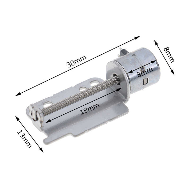 Screw Rod Stepper Motor With Slider 2-Phase 4-Wire Stepping Motor Micro Linear Stepper Motor Sliding Table for Positioning DIY