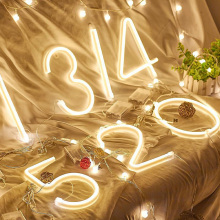Luminous 3d Letter Number Led Light 10 Wall Lamp Hanging Wedding Party Decoration Decor