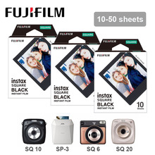 10 50 枚富士フイルムインスタックス正方形フィルム黒エッジ写真フィルム富士インスタックス平方 20 10 平方 6 インスタントカメラ SP 3 プリンタ