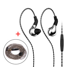 New BLON BL-03 BL03 10mm In Ear Earphone HIFI DJ Running Carbon Diaphragm Dynamic Driver Earphone