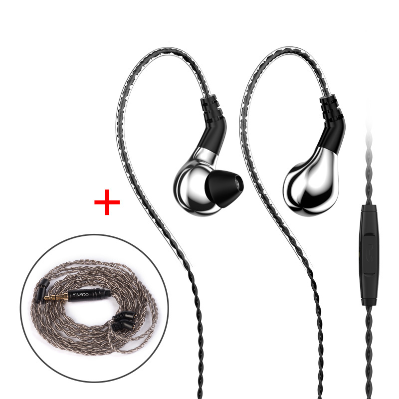 New BLON BL-03 BL03 10mm In Ear Earphone HIFI DJ Running Carbon Diaphragm Dynamic Driver Earphone Earbuds Detachable 2PIN Cable image