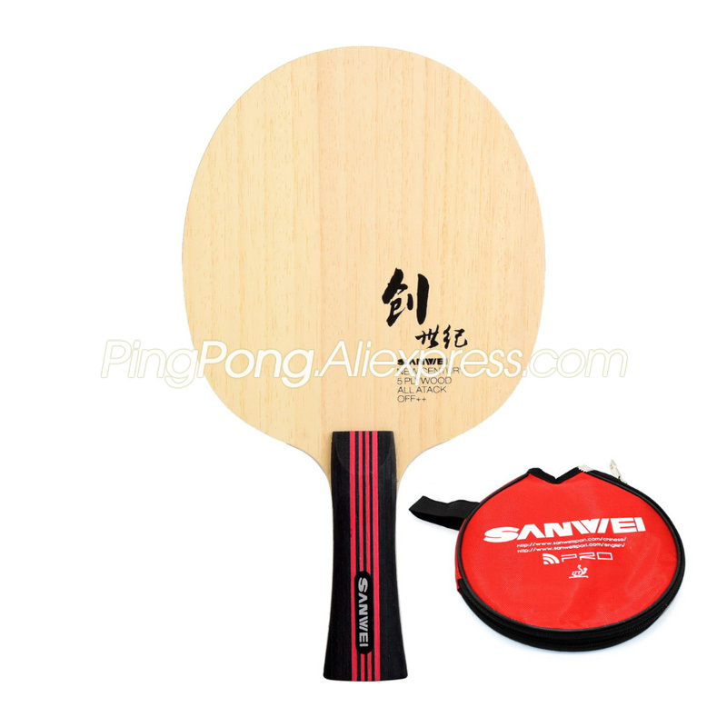 SANWEI New Century Table Tennis Blade (5 Ply Wood With Bag) SANWEI Racket Ping Pong Bat Paddle