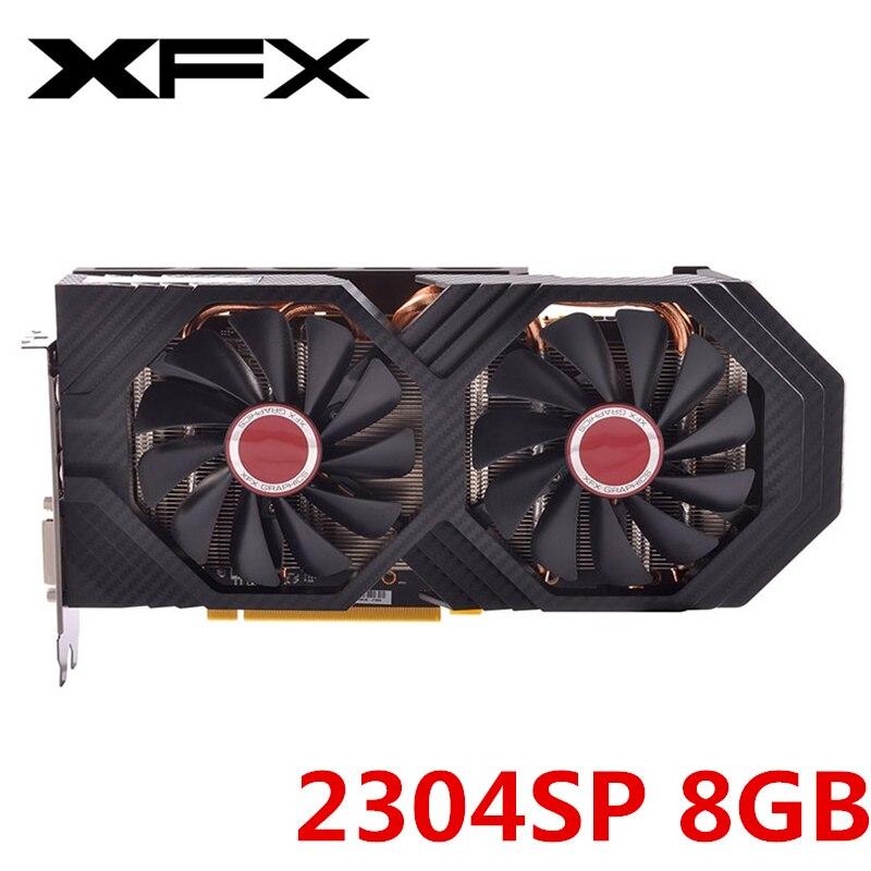 Original XFX RX 580 8GB Video Karte AMD Radeon RX580 8GB Grafiken Bildschirm Karten 2304SP GPU Desktop PUBG video Spiel Karte Nicht Bergbau