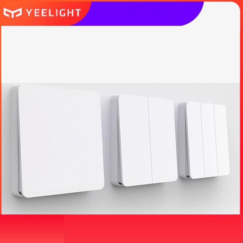 Yeelight Smart Wall Switch Self-Rebound Design Support 220v For Ceiling Light YLKG12YL/YLKG13YL