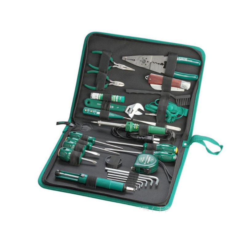 SATA 03760 For Tool (set) 27пр. For Electrical work, case. sata 04110 for tool set 19пр combo vehicle gen case