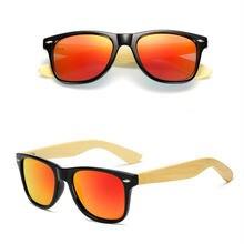 Винтажные бамбуковые солнцезащитные очки мужские для женщин
