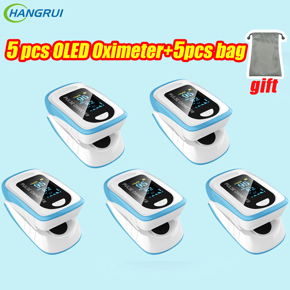 5pcs OLED Finger Pulse Oximeter SpO2 Oximetry De Dedo Pulso Oximetro Blood Oxygen Monitor Home Fingertip Oximeters In Stock
