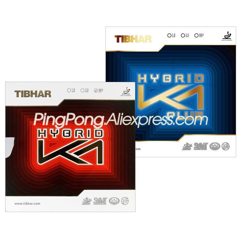 TIBHAR K1 Table Tennis Rubber (Forehand Offensive) Original TIBHAR HYBRID K1 PLUS Ping Pong Sponge