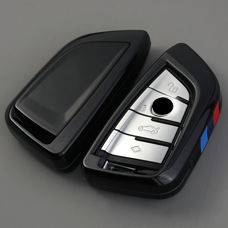 ABS Car key Cover Case Plating Remote Controller Key Bag Holder for BMW X1 X5 X6 F15 F16 F48 BMW 1   2 Series blade KeyChain