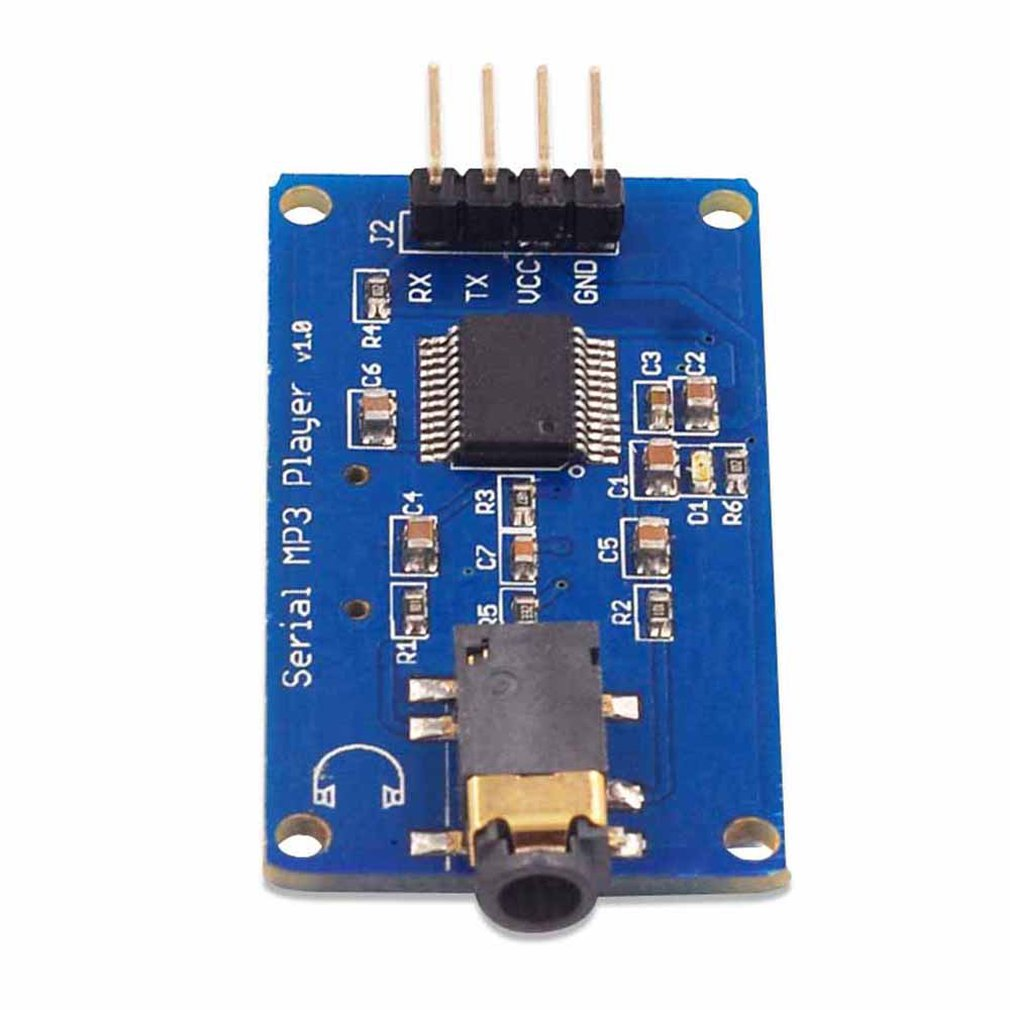 YX5300 MP3 Player Module Wav Format Music Player Voice Serial Port Control Music Module TF Card Slot Player Module