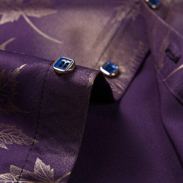 2021 New Social Long Sleeve Maple Leaf Designer Shirts Men Slim Fit Vintage Fashions Men's Shirt Man Dress Jersey Clothing 36565 4