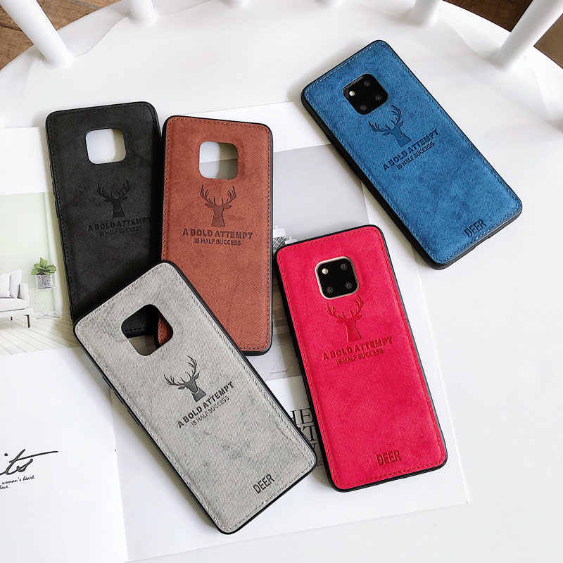 Fabric phone Cloth case For Huawei mate3 Nova5 Nova4 case for honor 20 20Pro 9X 8X play3 case light bumper for honor 7C