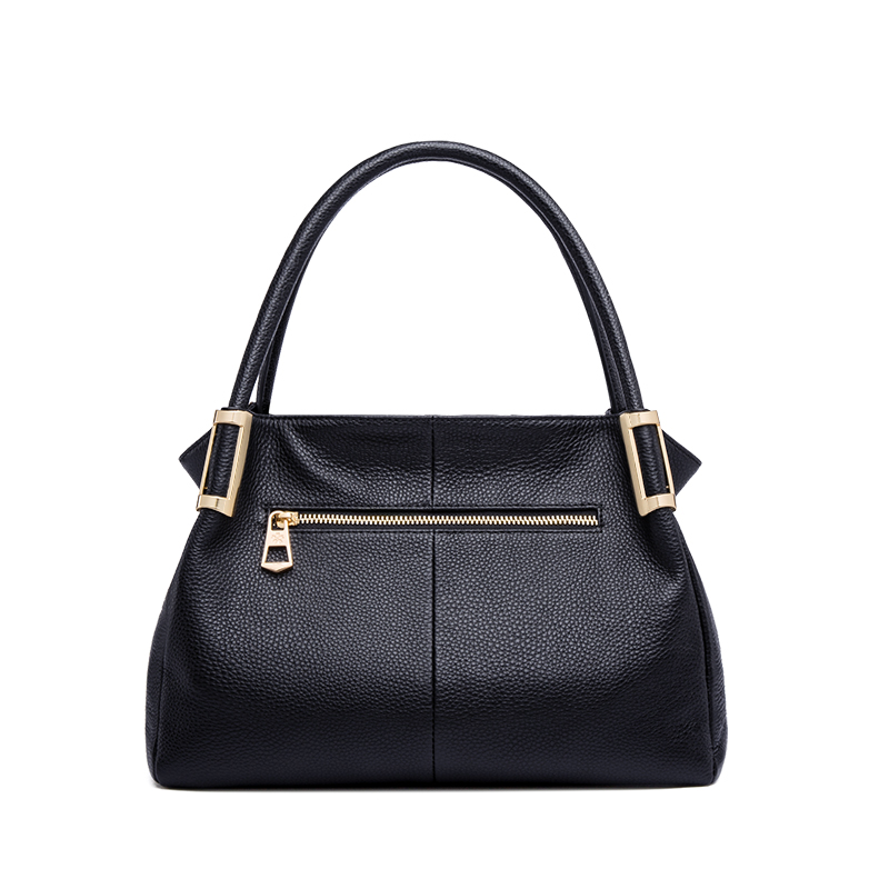 Real Genuine Leather Handbags For Women Hand Bags Female Vintage Soft Cow Leather Ladies Solid Tote Bags Black