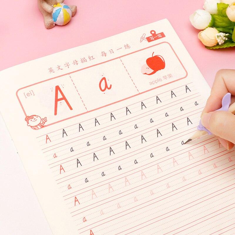 3 Pcs/set English Copybook Italian Font Handwritten Print Adult Practice Copybook Students Copy Hard Pen Calligraphy For Kids